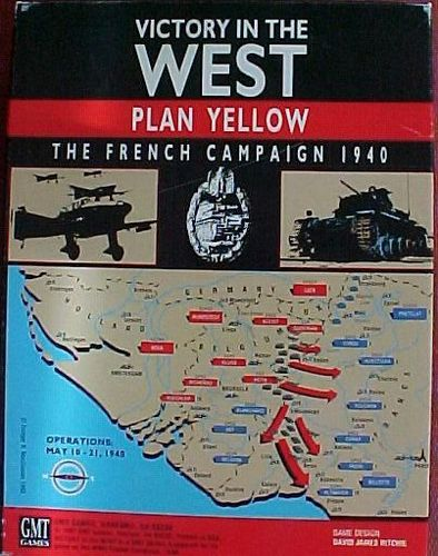 Board Game: Victory in the West: Plan Yellow, The French Campaign 1940