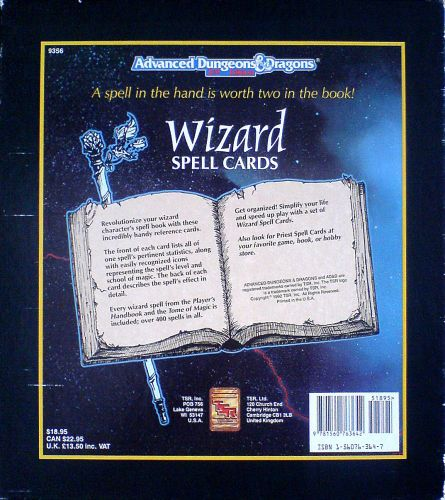 Wizard Spell Cards | Image | BoardGameGeek