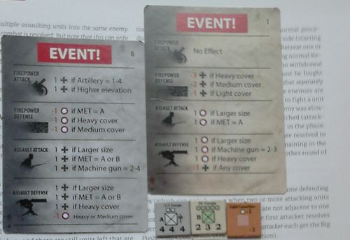 GS SR 005b – German 1-1 Corps vs. the Russian IV Corps – Combat Cards
