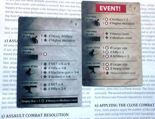 GS SR 002d – German I Corps attack – both sides compare attack-defence results