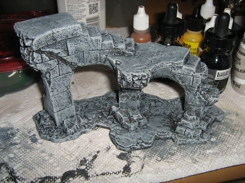 Painting Tutorial: Stone with Secret Weapon Stone wash
