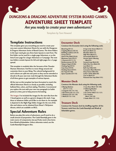 Geckoths Dd Template Repository Dungeons And Dragons Adventure