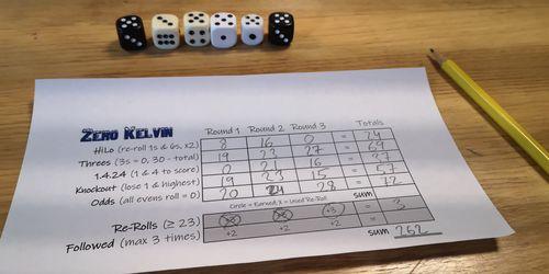 Board Game: Zero Kelvin: A Freezing Dice Game