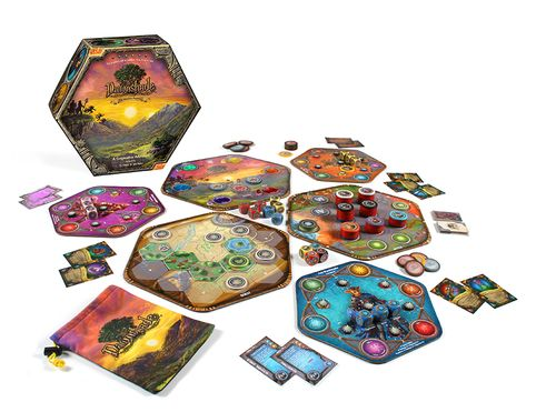 Dawnshade Board Game (Final Version!) The art files are off to the printer and our final prototypes are being created. This is the final prototype version we're playing on to make final game tweaks before our Kickstarter launch!