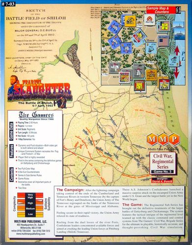 Board Game: A Fearful Slaughter: The Battle of Shiloh