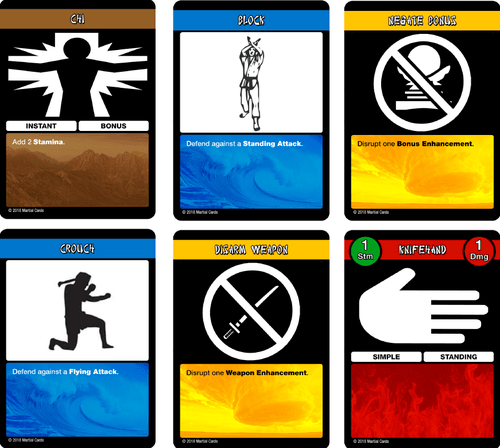 Board Game: Martial Cards