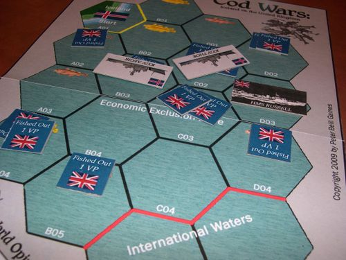 Board Game: COD WARS: Iceland vs. Great Britain in the 1970s