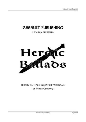 Board Game: Heroic Ballads: Heroic Fantasy Miniature Wargame
