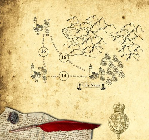 Maps and brushes - continued   DIY projects, re-themes