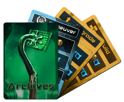 Updated prototype Archive cards