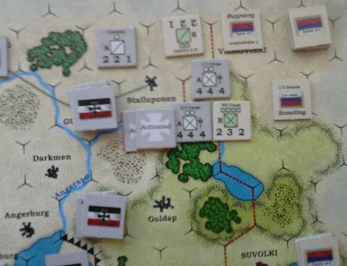 GS SR 002b – German I Corps attack - cavalry screen retires