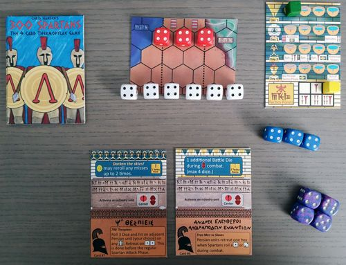 Board Game: 300 Spartans: The 9 Card Thermopylae Game