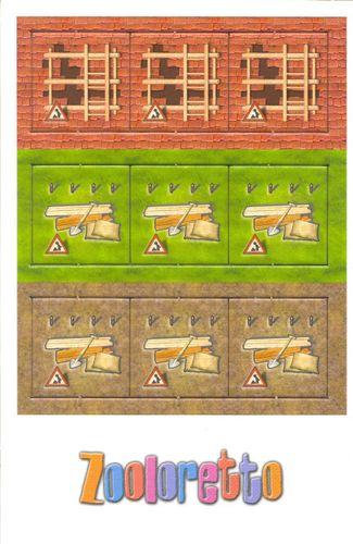 Board Game: Zooloretto: Building Sites