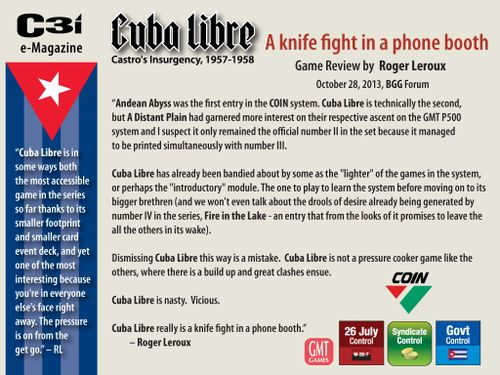 Roger's Reviews] Cuba Libre: A Knife Fight in a Phone Booth   Cuba
