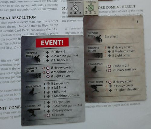 GS SR 005c – the German 36R-1 Reserve Corps vs. the 5th Rifle Brigade – Combat Cards
