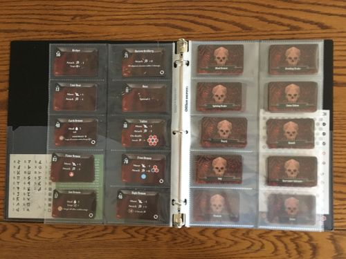Gloomhaven image boardgamegeek extremely helpful for monster deck sorting business card binder pages reheart Choice Image