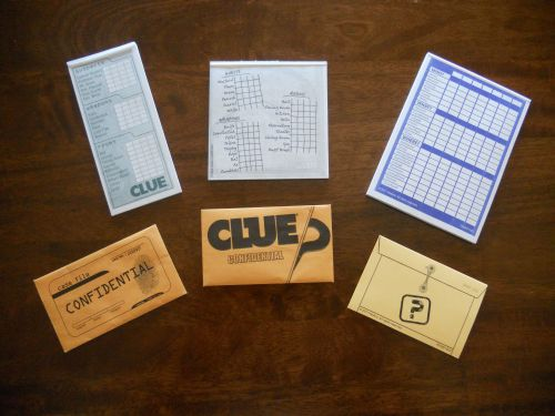 Cluedo Case File Envelope