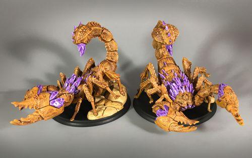 Board Game: Shadows of Brimstone: Dark Stone Scorpions XL-Sized Enemy Duo Pack