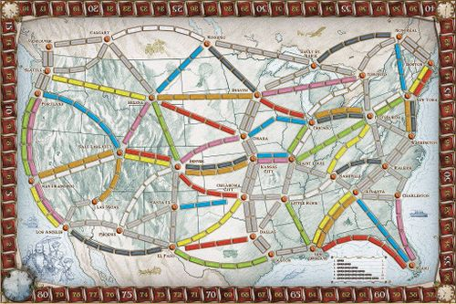 ticket to ride usa map Ticket To Ride Product Guide Boardgamegeek
