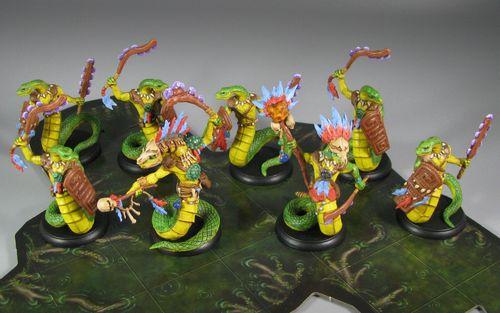Board Game: Shadows of Brimstone: Serpentmen of Jargono Deluxe Enemy Pack