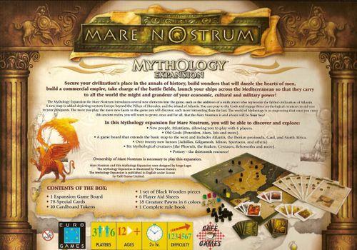 Board Game: Mare Nostrum: Mythology Expansion