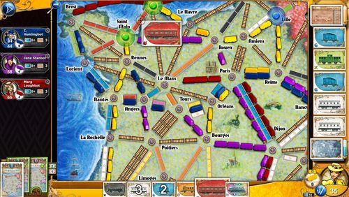 c91aaefbad424 ... we notice is that an update has dropped for their digital take on  Ticket to Ride. It s a map of France