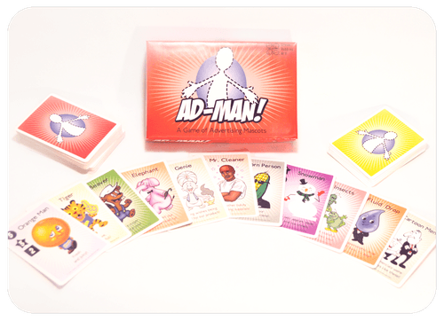 Board Game: Ad-Man! a Game of Advertising Mascots