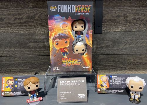 Board Game: Funkoverse Strategy Game: Back to the Future 100 – Marty McFly & Doc Brown