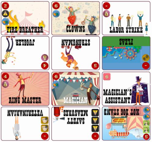 Board Game: 9-Card Circus
