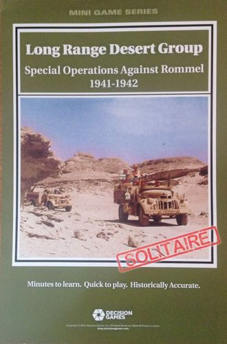 Board Game: Long Range Desert Group: Special Operations Against Rommel 1941-1942