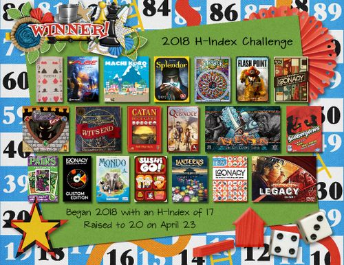 2018 New Challenge: Raise your H-Index   BoardGameGeek