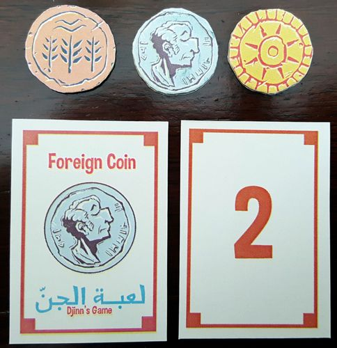 The coins and foreign coin cards