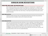 RPG Item: Dungeon Room Descriptions