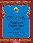 RPG Item: GM's Aid IV: Monster Knowledge Cards Volume 2 - Gargoyle to Owlbear