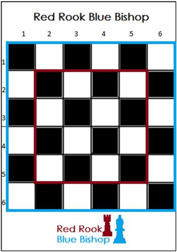 Board Game: Red Rook Blue Bishop