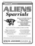 RPG Item: GURPS Aliens: Sparrials