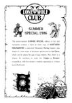 Issue: Lone Wolf Club Newsletter (Special Issue - Summer 1986)