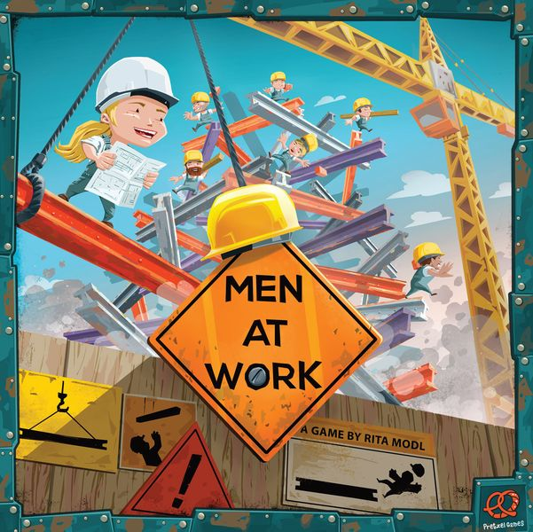 Men At Work, Pretzel Games, 2018 — front cover (image provided by the publisher)
