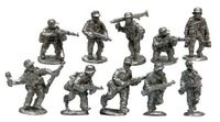 Board Game Accessory: Warfighter: The WWII Tactical Combat Card Game – Expansion #16: German Metal Soldier Miniatures
