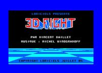 Video Game: 3D Fight