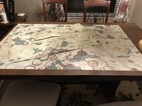Oversized Map with Standard map for scale