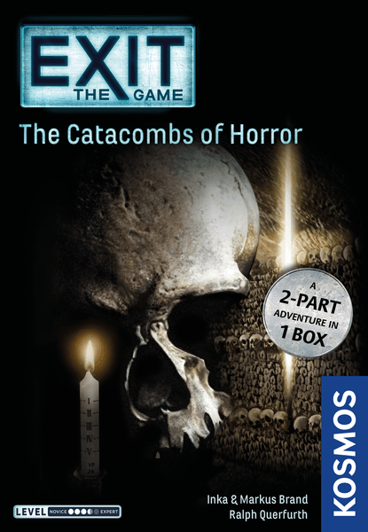 Exit: The Game – The Catacombs of Horror, KOSMOS, 2019 — front cover (image provided by the publisher)