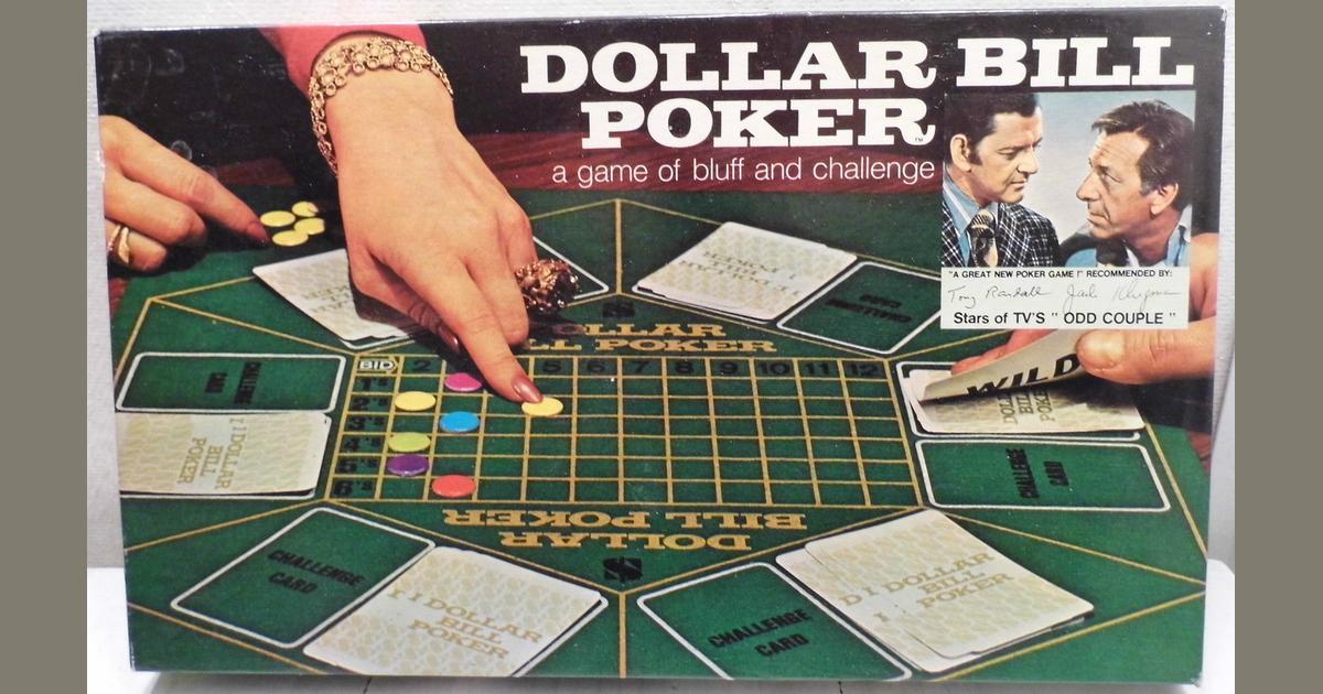 Dollar Bill Poker Board Game Boardgamegeek