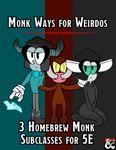RPG Item: Archetypes for Weirdos: Monk Ways for Weirdos
