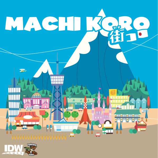 Machi Koro Front Cover from English Language Edition from Pandasaurus Games and IDW Games