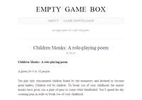 RPG Item: Children Monks: A role-playing poem