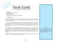 RPG Item: Console Legends