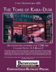 RPG Item: 1 on 1 Adventures #20: The Tomb of Kara-Duir