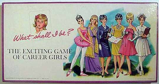 What shall I be? The Exciting Game of Career Girls   Board