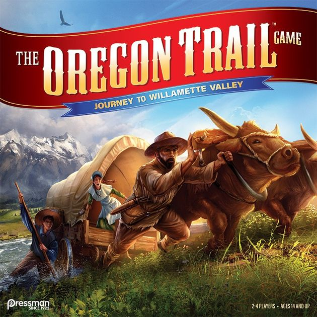 The Oregon Trail Game Journey To Willamette Valley Board